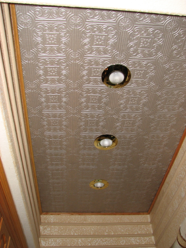 Painte Faux Stamped Tin Ceilings in Austin, Texas