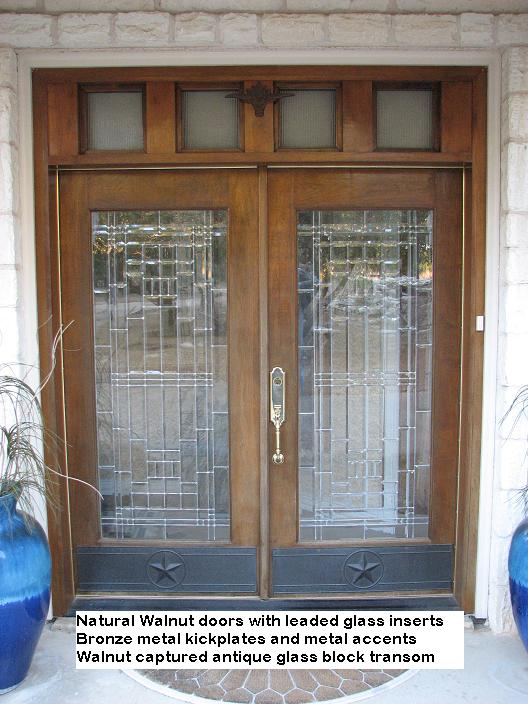 Custom Walnut Entry Doors in Austin, Texas