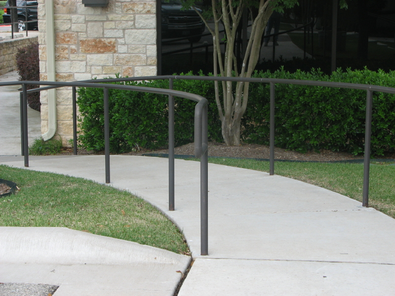ADA Handicap Ramp with detectable warnings in Austin Texas