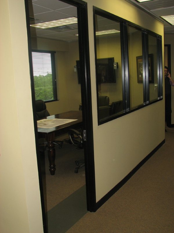 Commerical Half Glass Window Wall in Austin Texas