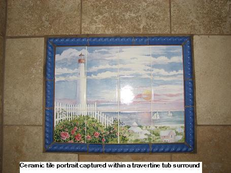 Ceramic Tile Portrait and Scene Inserts in Austin, Texas