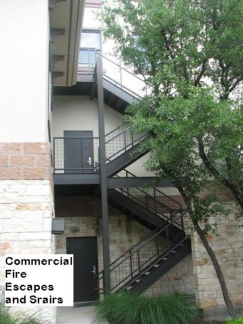 Commercial fire escapes in Austin, Texas