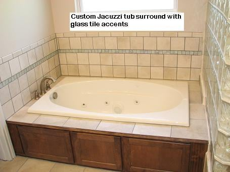 Custom Tub Surround Tile Designs in Austin, Texas