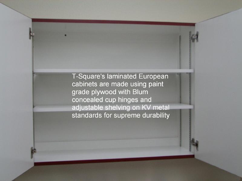 Plastic Laminated European Cabinetry in Austin, Texas