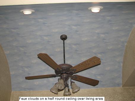 Faux Cloud Ceiling in Austin, Texas