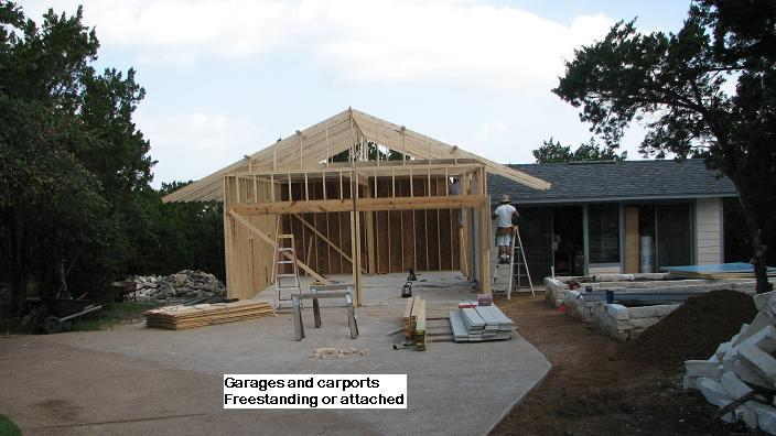 Custom Garages and Carports in Austin, Texas