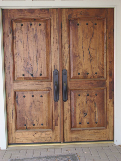 Custom Mesquite Entry Doors in Austin, Texas.