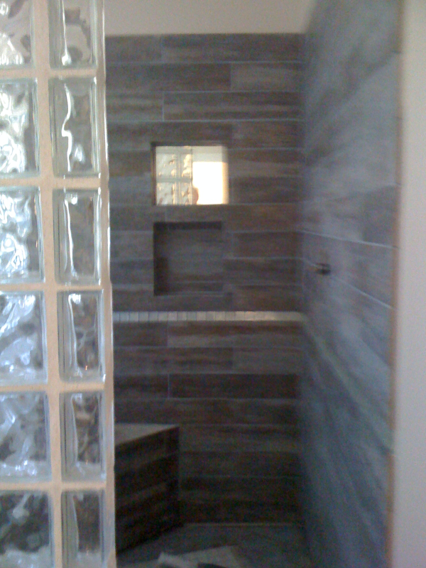 Custom Glass Block Showers in Austin, Texas