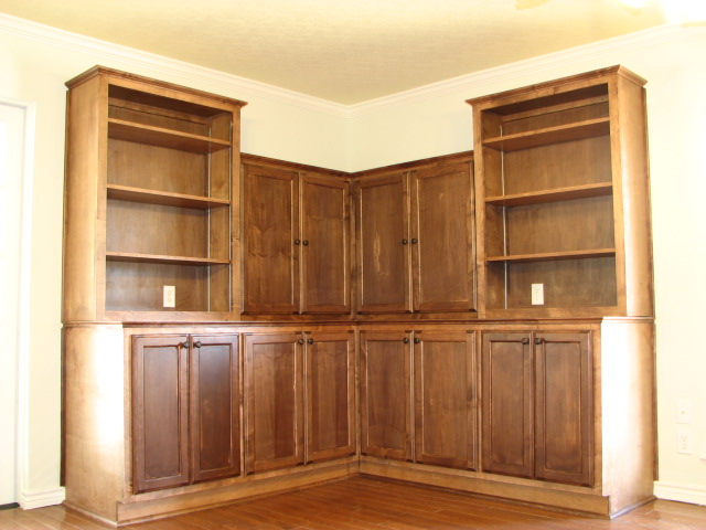 Custom Credenzas and Bookshelves in Austin, Texas