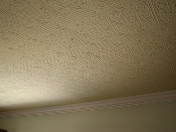 Faux stamped tin ceilings in Austin, Texas
