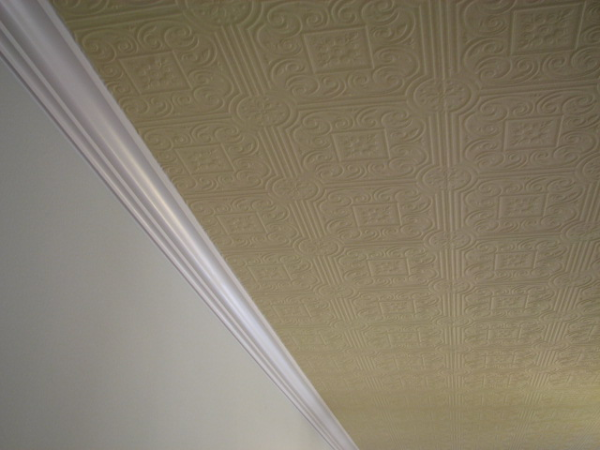 Painted Faux Stamped Tin Ceilings In Austin, Texas