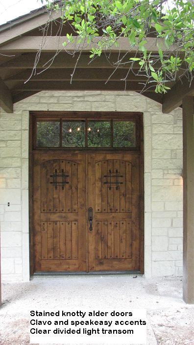 Custom Knotty Alder Entry Doors in Austin, Texas