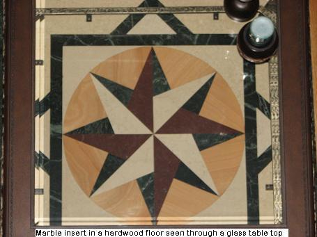 Marble Floor Inserts in Austin, Texas