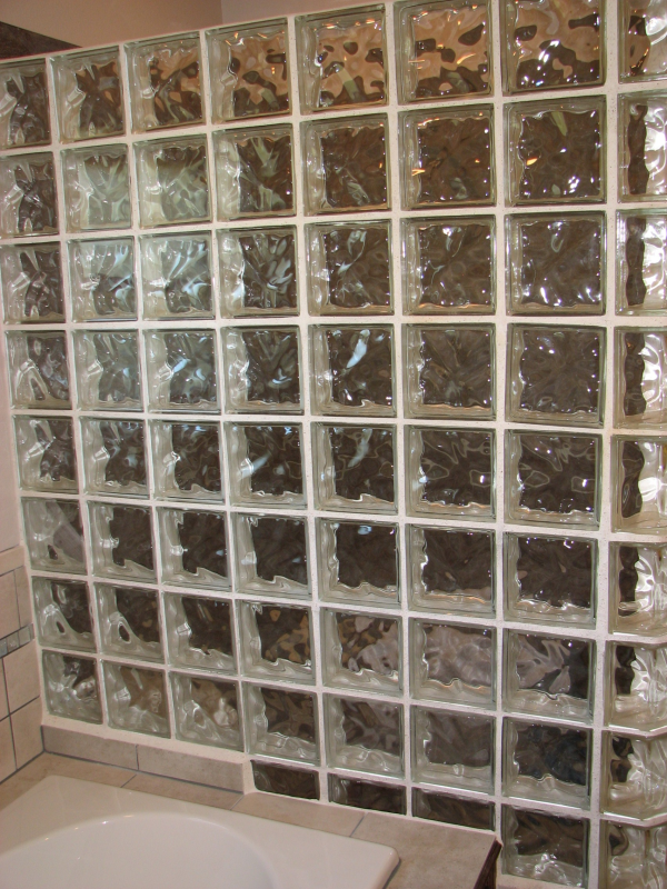 Custom Glass Block Walk In Showers in Austin, Texas