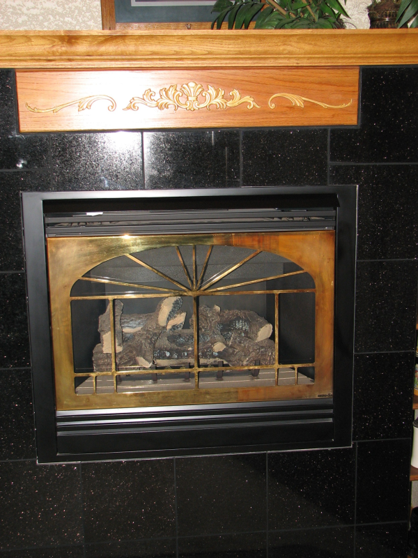 Custom Granite Fireplace Inserts in Austin, Texas