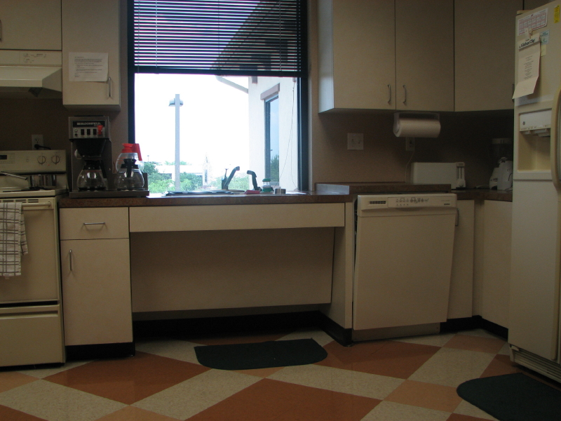 Commercial breakroom cabinetry in Austin, Texas