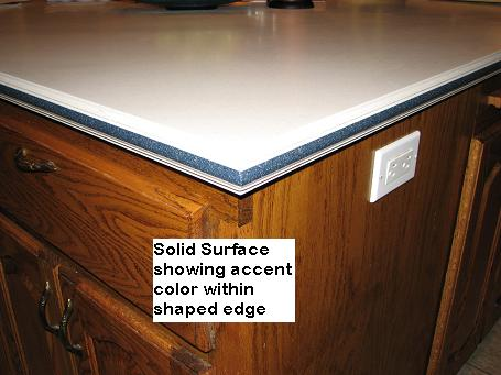Solid Surface cabinet tops in Austin, Texas