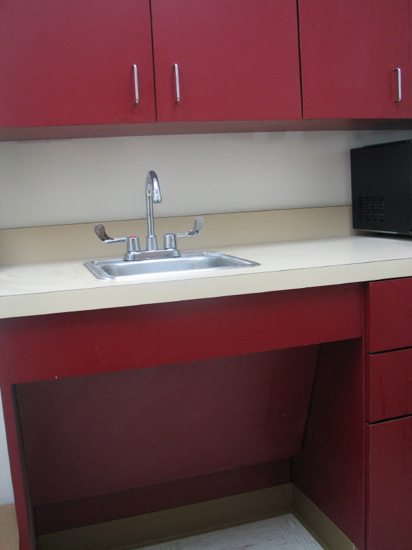 Commercial European laminated breakroom cabinets
