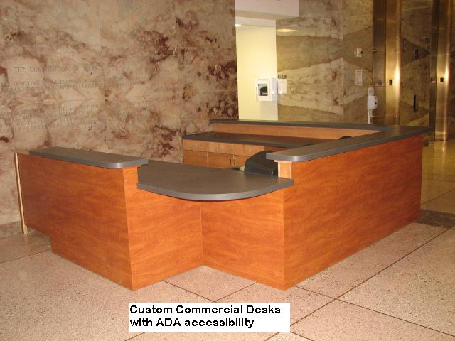 Custom ADA Comerical Desks in Austin, Texas