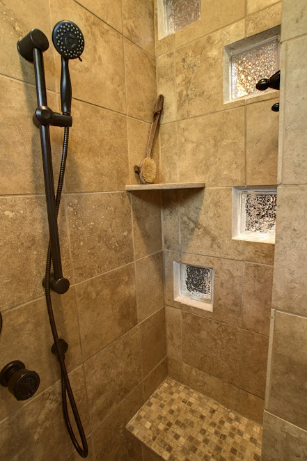 Natural Travertine Marble Shower