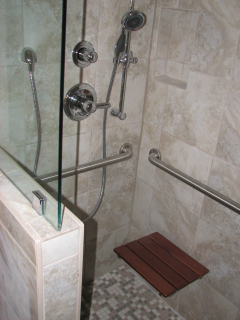 Roll in shower conversion in Austin, Texas