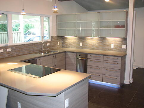 A frameless European Kitchen Design in Austin, Texas