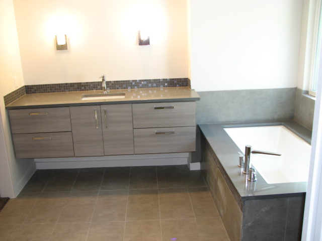 Frameless European Cabinetry Used In Our Modern Bathroom Upgrades