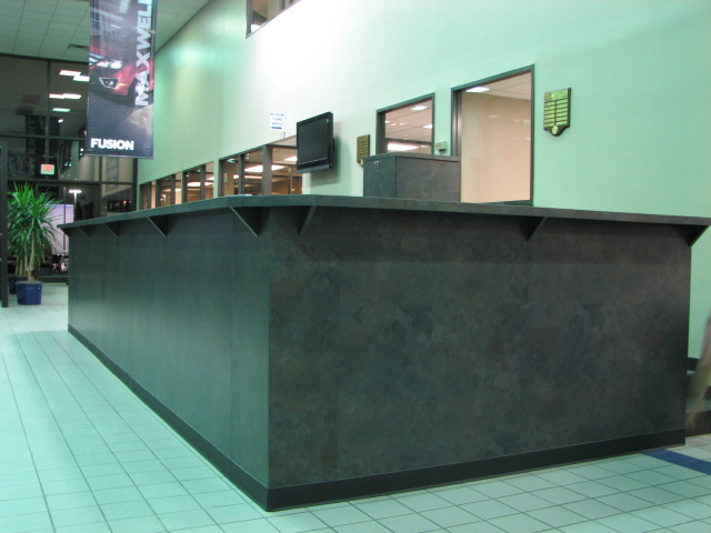 Reception and transaction desks