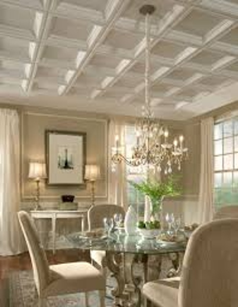 Painted boxed ceilings