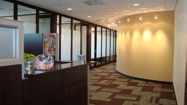 Full height glass walls