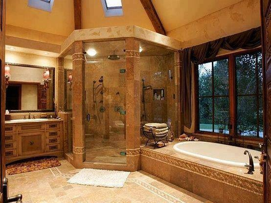 Custom walk in shower designs