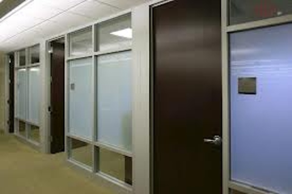 Full height sectioned glass walls