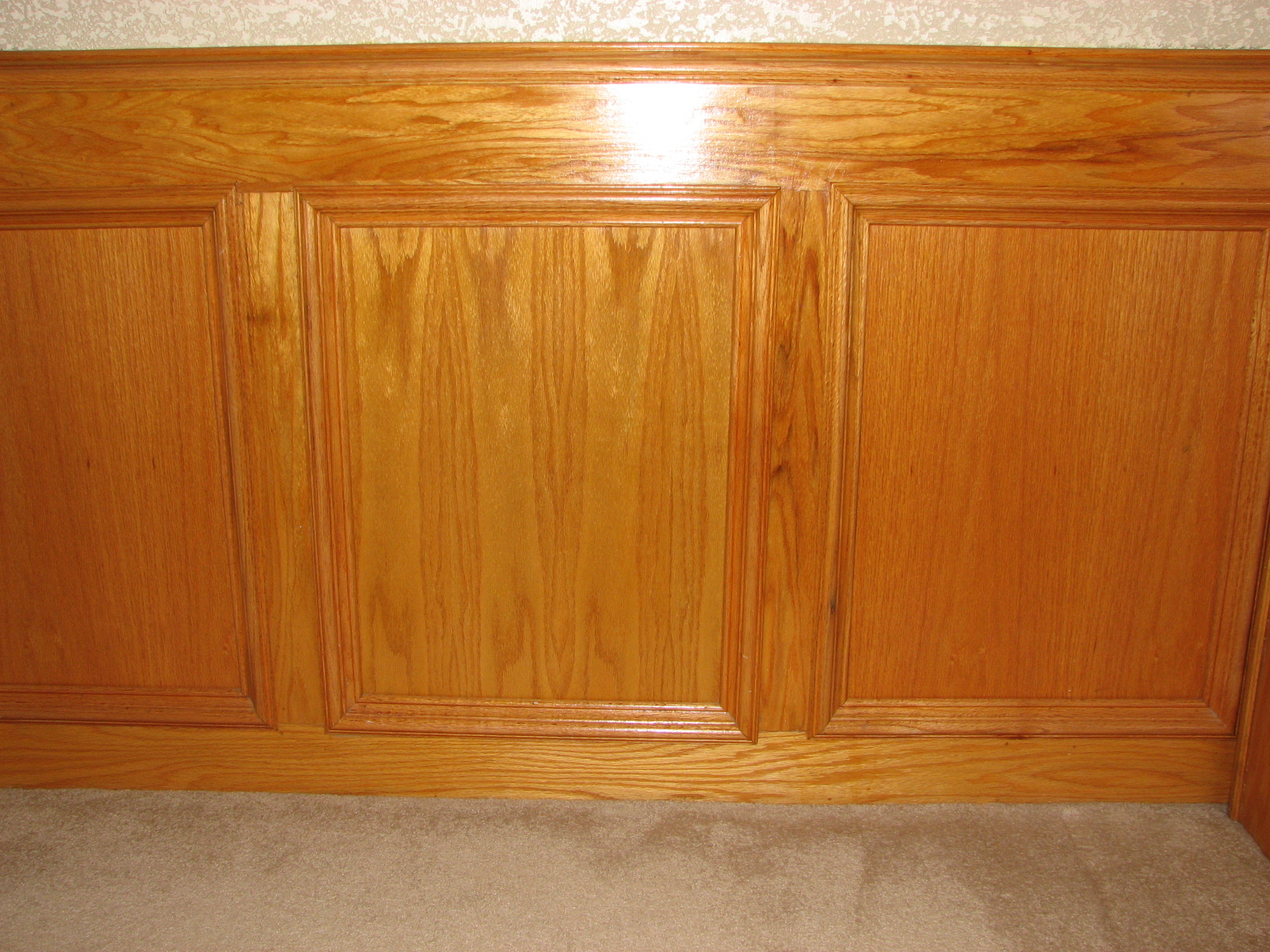 Chair rails and raised panel walls