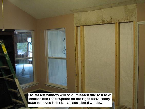 Framing to relocate a window