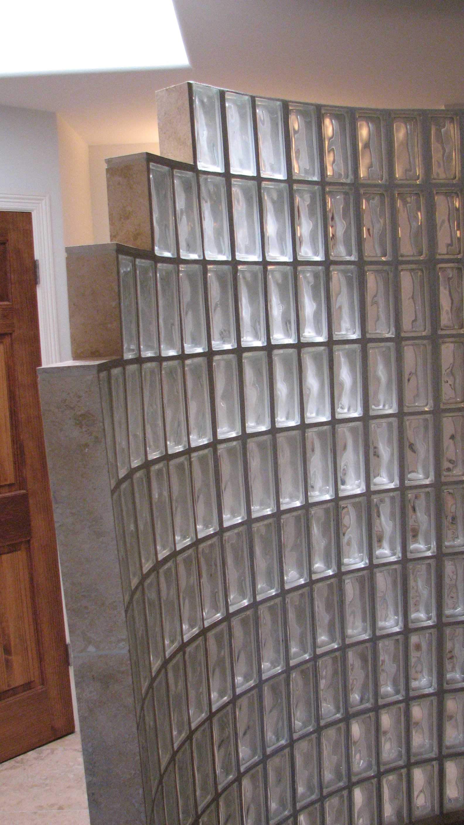 Glass blocks will become translucent water containing walls