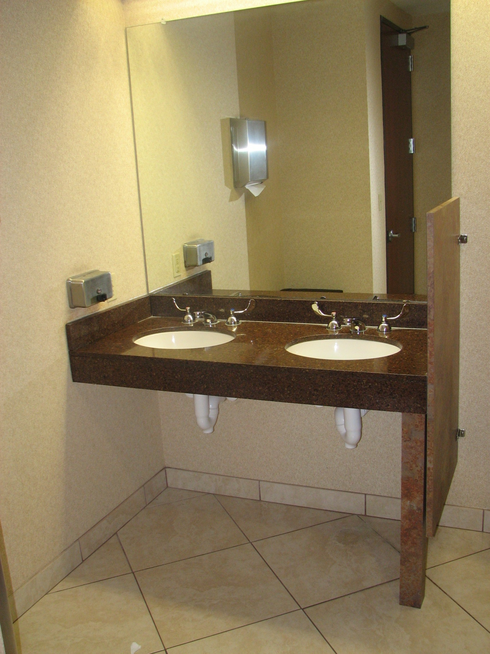 Granite vanity top with pipe wrap protection