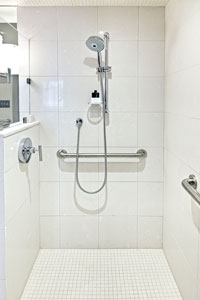 ADA Roll In Shower designs in Austin, Texas