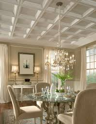 A painted raised panel ceiling