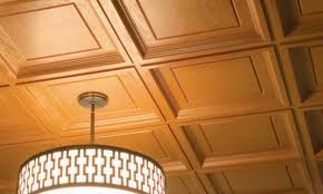 Wooden raised panel ceiling