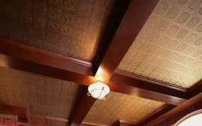 Custom raised panel ceiling