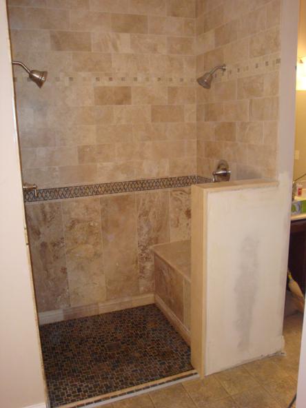 custom ada shower with duel controls