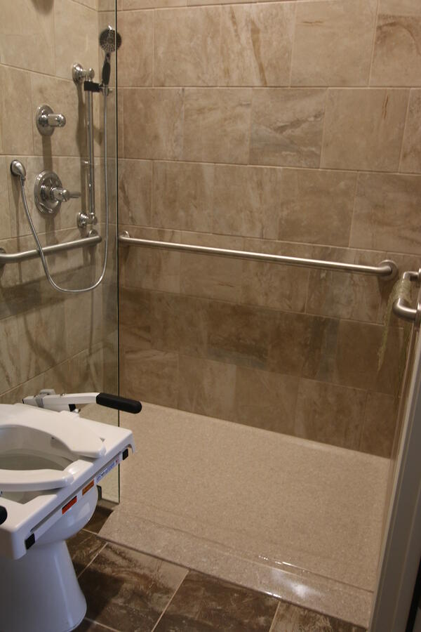 handicap bathroom design in Austin