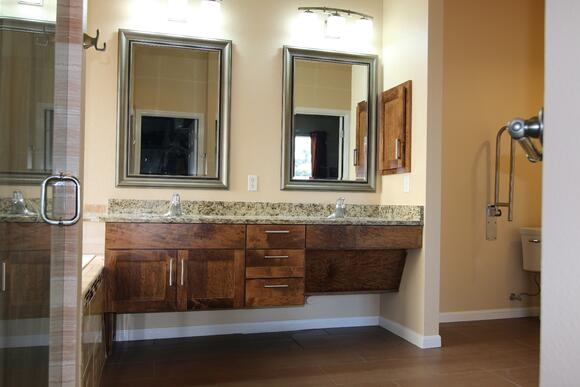 wheelchair accessible vanity in Austin