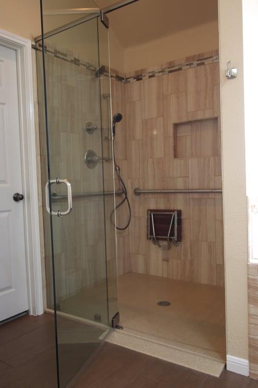 Roll-in shower in Austin