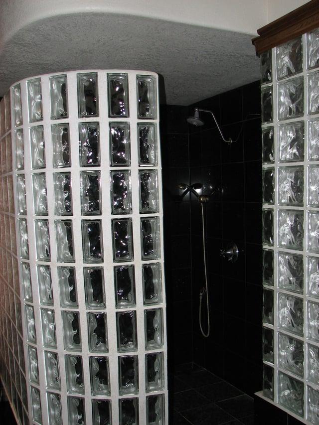 Glass Block Shower Designs In Austin, Texas