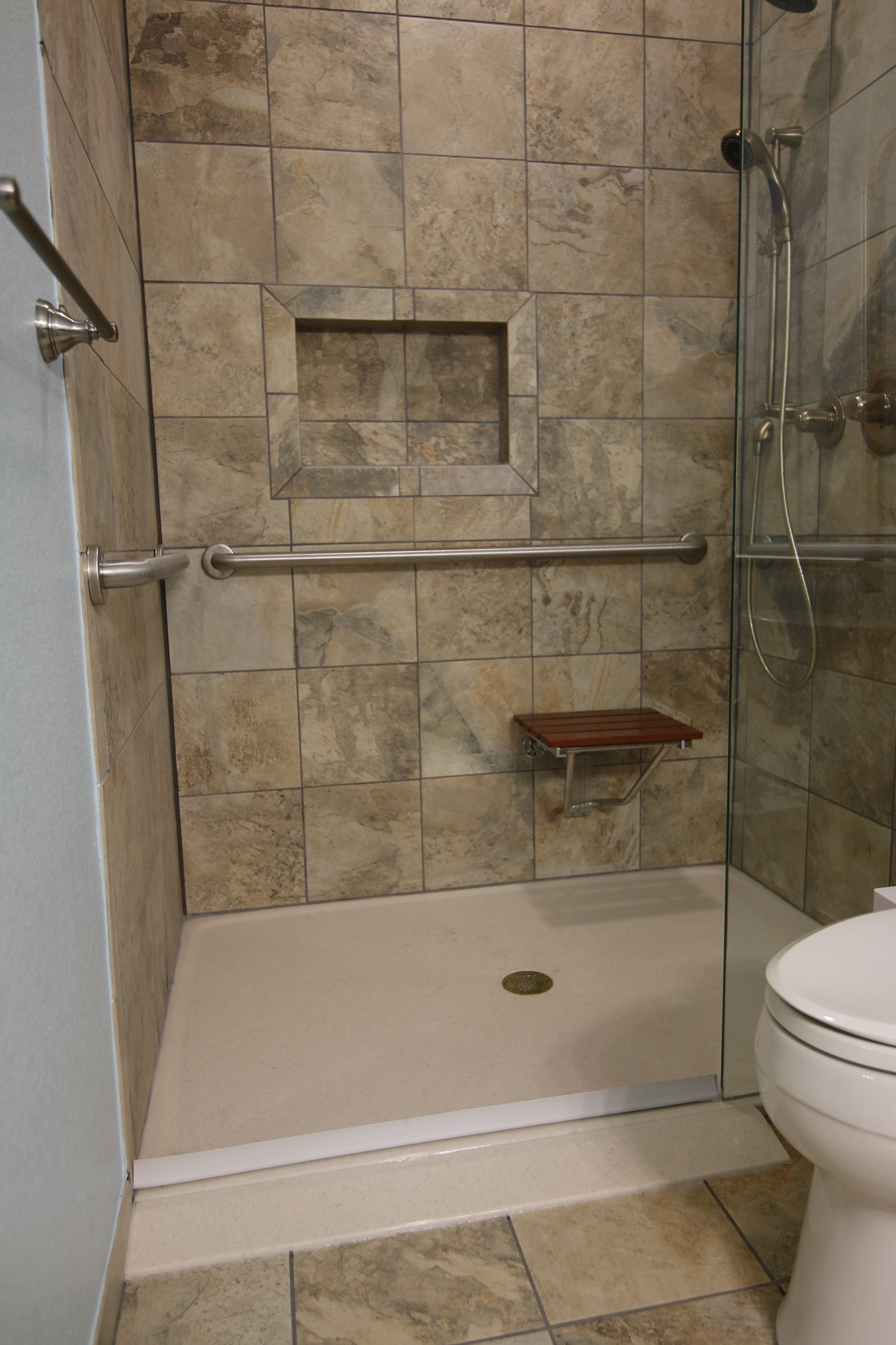 Custom ADA Roll In Shower Designs