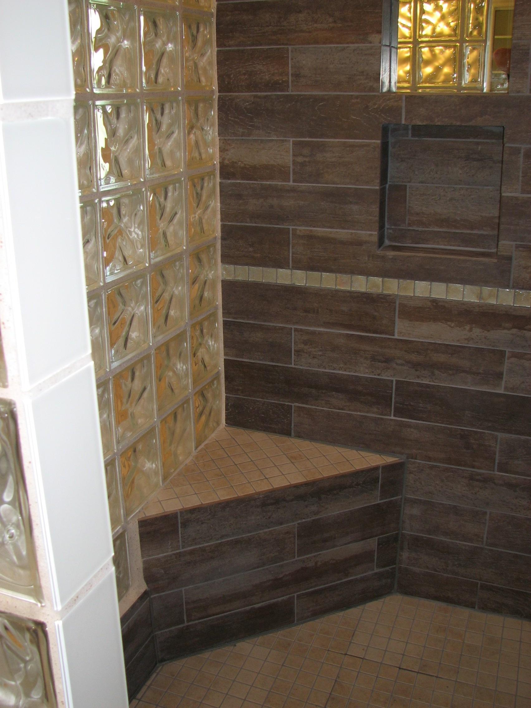 Glass Block Shower Design